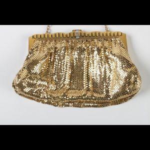Whiting & Davis vintage gold bag